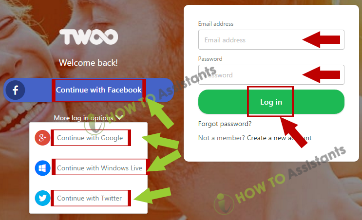 Twoo login mobile