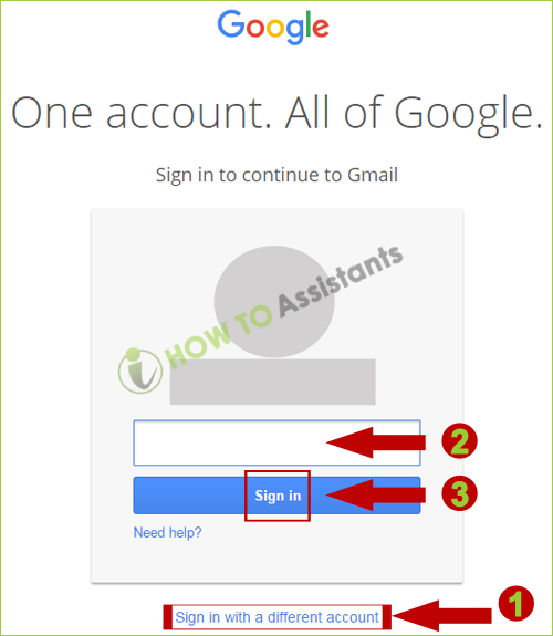 Gmail login sign in as different user