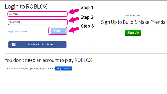 How To Login To My Roblox Account Howtoassistants Com